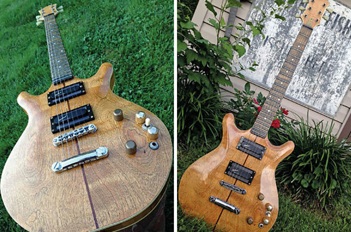 """""""Lady"""", An Electric Guitar Built Illegally By An Inmate In A Pennsylvania State Prison"""