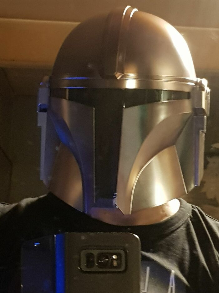 My Current Favourite Thing Is My Hasbro Black Series Mandalorian Helmet. This Is The Way.