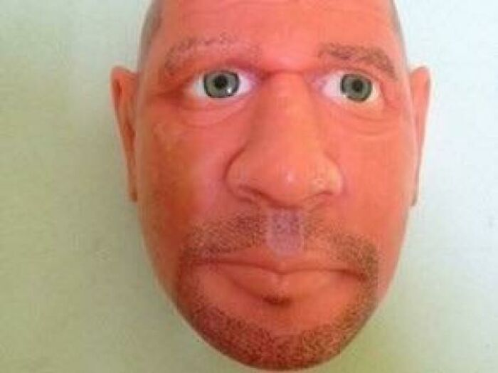 The Face Of A Guard Made With Soap By A Prisioner In Brazil. All Made With Soap Even The Eyes