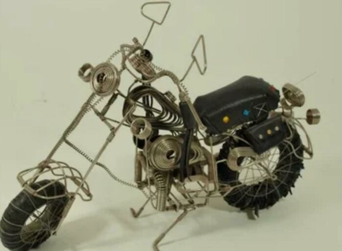 Prison Made Harley Motorcycle Sculpture