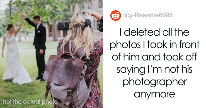 Photographer Deletes Wedding Photos She Took Right In Front Of The Groom, Goes Viral