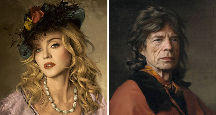 French Artist Adds Celebrities And Characters Into Classical Paintings, And The Results Are Quite Fitting (30 Pics)
