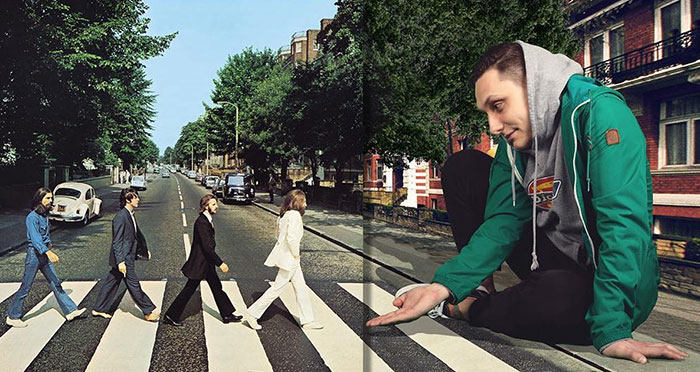 Artist Hilariously Reveals What's Happening Outside The Frames Of Famous Music Album Covers (18 New Pics)
