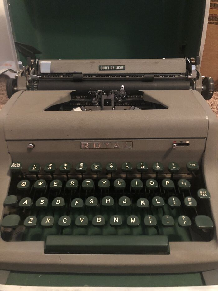 My Royal Quiet Deluxe, 1955. Still Being Repaired. I Have More Typewriters, Too