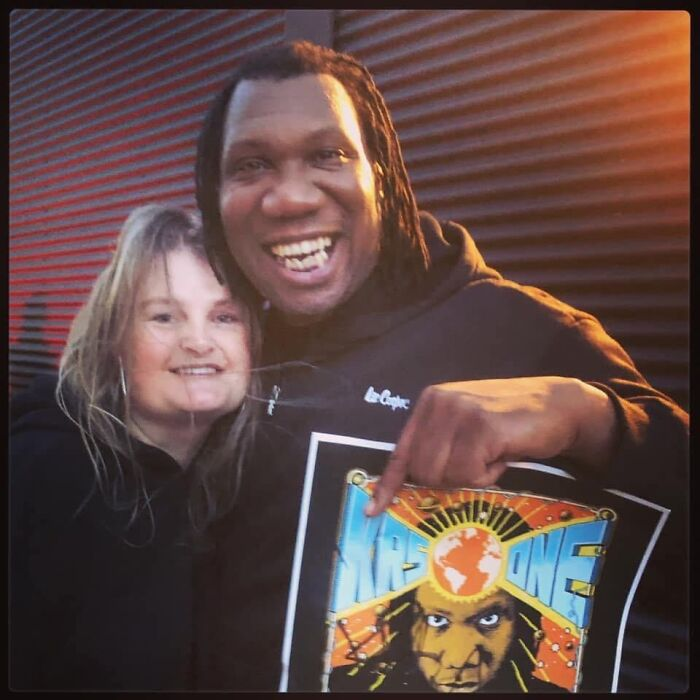 The Poster Krs One Signed For Me Along With The Picture Of Me Getting To Meet Him.