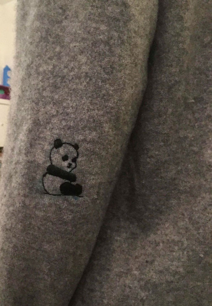 When Life Gives You A Hole On The Left Elbow, Make A Panda