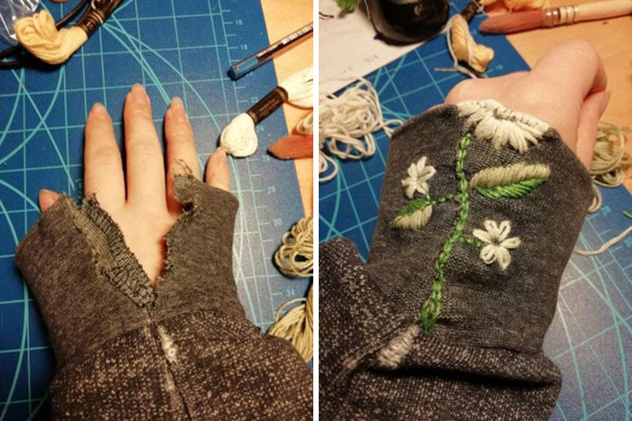 First Visible Mending! Fixed My BF's Hoodie