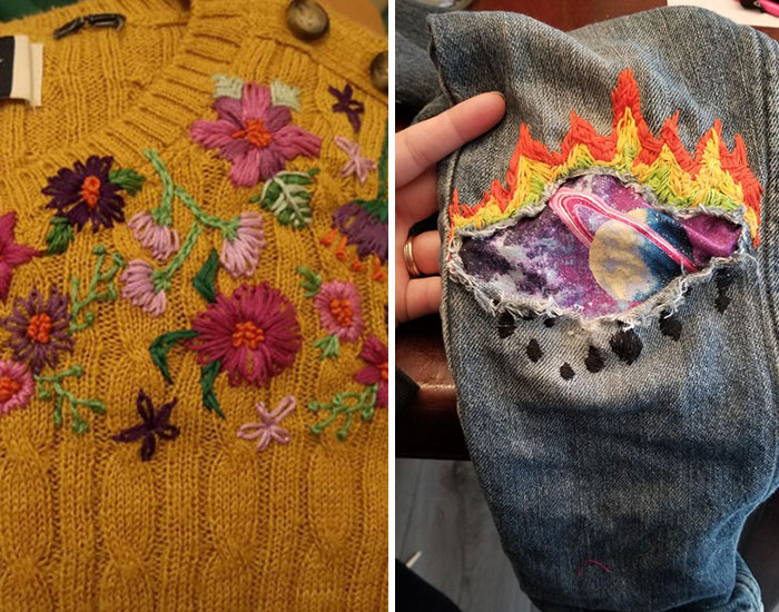 This Online Group Is Solely Dedicated To People Repairing Their Clothes In The Most Stunning Ways (50 Pics)
