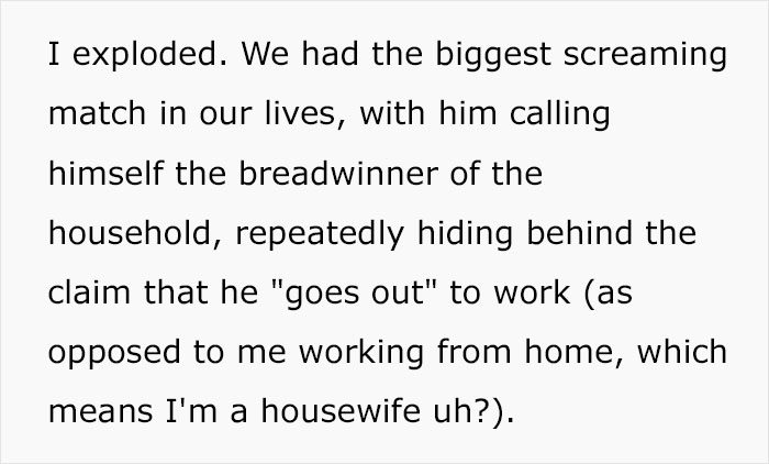 Woman Who Earns 5 Times As Much As Her Husband Loses It After He Complains She Doesn't Do Enough Chores