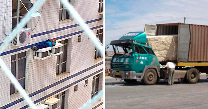 This Online Group Is Dedicated To The Dumbest Work Safety Examples, Here Are 40 Of The Worst (New Pics)