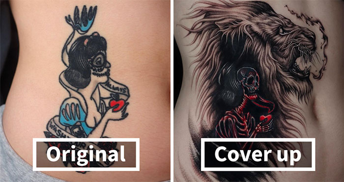 30 Amazing Examples Of Ink Masters Giving Old And Boring Tattoos A Cool Makeover